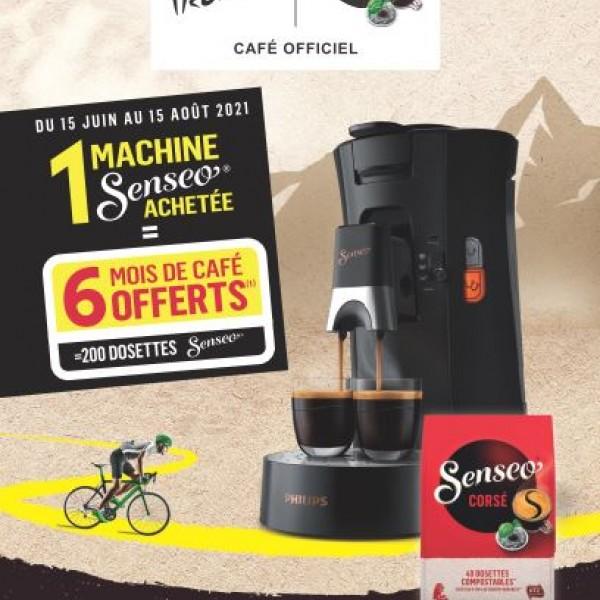 SENSEO VOUS OFFRE 6 MOIS DE CAFE, SOIT 200 DOSETTES