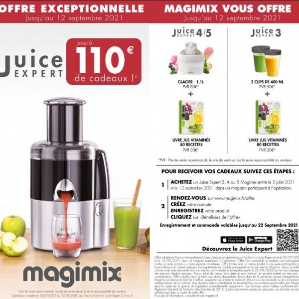 MAGIMIX VOUS OFFRE JUSQU'A 110€ DE CADEAUX