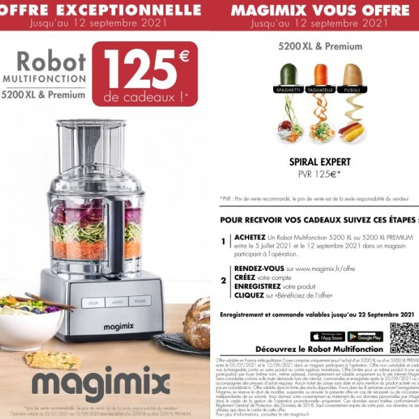 MAGIMIX VOUS OFFRE JUSQU'A 125€ DE CADEAUX