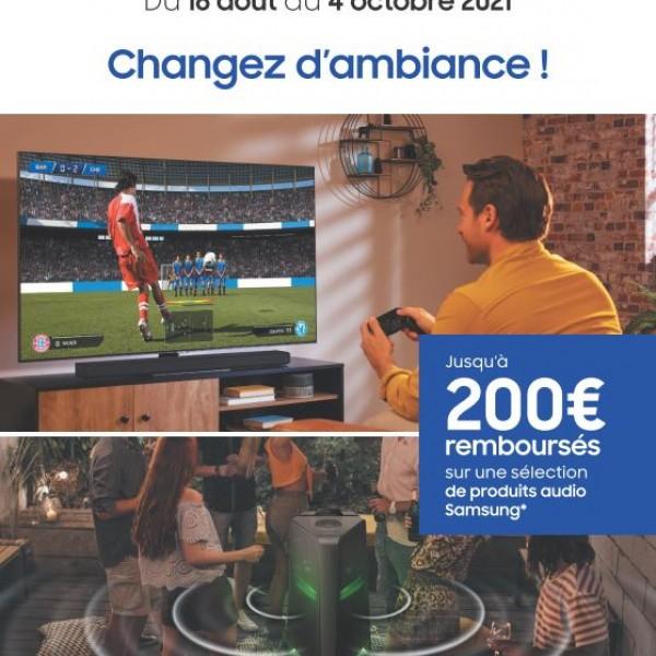 SAMSUNG VOUS REMBOURSE JUSQU'A 200€